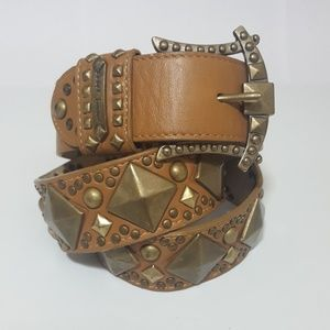 Betsey Johnson Studded Leather Belt